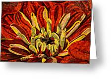 Fanciful Bold Floral Mosaic Greeting Card