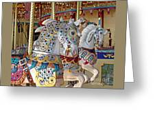 Fanciful Carousel Ponies Greeting Card