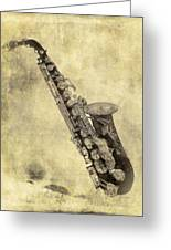 Fancy Antique Saxophone In Pastel Greeting Card