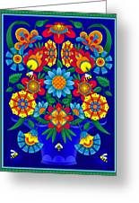 Fancy Blooms Bouquet Greeting Card