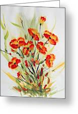 Fancy Flowers Greeting Card