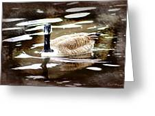 Fancy Goose Greeting Card