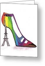 Fancy Parisian Shoe Greeting Card
