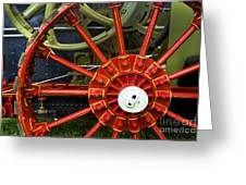 Fancy Tractor Wheel Greeting Card