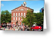 Faneuil Hall  Cradle Of Liberty Greeting Card