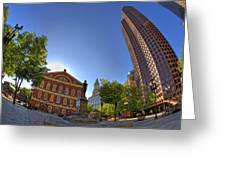 Faneuil Hall Square Greeting Card by Joann Vitali