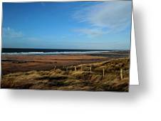Fanore Beach Greeting Card by Peter Skelton