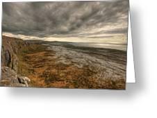 Fanore Burren View Greeting Card by John Quinn