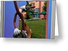 Fantasia Mickey And Broom Floral Walt Disney World Hollywood Studios Greeting Card