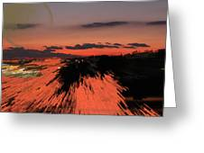 Fantastic Space Sunset Greeting Card