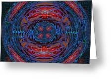 Fantasy Art Future Cosmic Discoveries Biological Planets N Galaxies Recreating N Multiplying Backgro Greeting Card