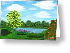 Fantasy Backyard Greeting Card