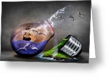 Fantasy Bulb Greeting Card