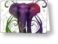 Fantasy Elepant Greeting Card by Diana Shively