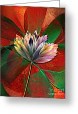 Fantasy Flower Greeting Card