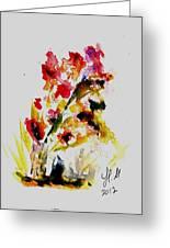 Fantasy Flowers 3 Greeting Card