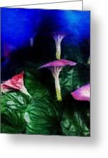 Fantasy Flowers Embossed Hp Greeting Card