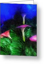 Fantasy Flowers Lux Greeting Card