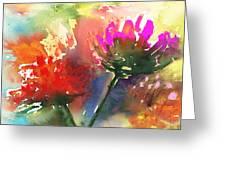 Fantasy Flowers Greeting Card