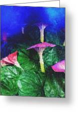 Fantasy Flowers Pastel Chalk 2 Greeting Card