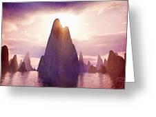 Fantasy Islands Greeting Card