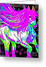 Fantasy Painted Dream Horse Greeting Card