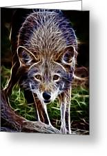 Fantasy Red Wolf Greeting Card