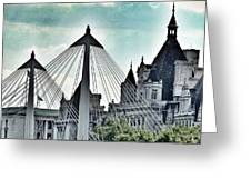 Fantasy London . Old Spires New Greeting Card
