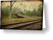 Far Side Of The Tracks Greeting Card