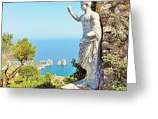 Faraglioni Rocks From Mt Solaro Capri Greeting Card