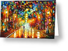 Farewell To Anger Greeting Card by Leonid Afremov