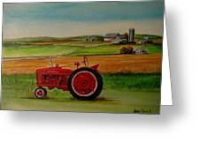 Farm All Tractor Greeting Card by Kendra Sorum