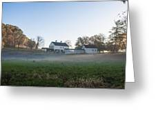 Farm At Valley Forge In Morning Greeting Card