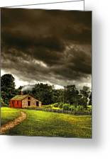 Farm - Barn - Storms A Comin Greeting Card