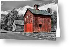 Farm - Barn - Weathered Red Barn Greeting Card