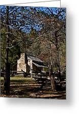 Farm Cabin Cades Cove Tennessee Greeting Card
