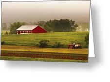 Farm - Farmer - Tilling The Fields Greeting Card