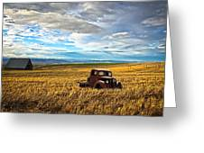 Farm Field Pickup Greeting Card