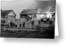 Farm Fire Greeting Card