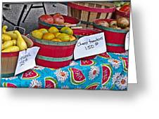Farm Fresh Produce At The Farmers Market Greeting Card