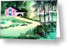 Farm House New Greeting Card by Anil Nene