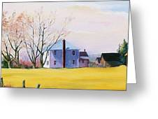 Farm In Spring Greeting Card