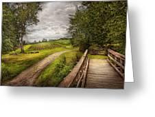 Farm - Landscape - Jersey Crops Greeting Card