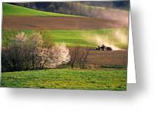 Farm Landscape Springtime Pennsylvania Greeting Card
