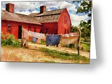 Farm - Laundry - The Clothes Line Greeting Card