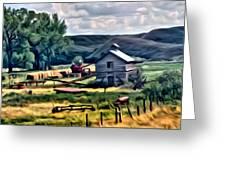 Farm Look Greeting Card