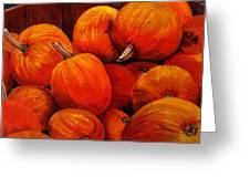 Farm Market Pumpkins Greeting Card
