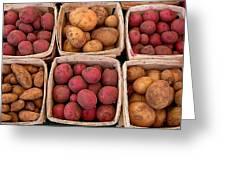 Farm Potatoes Greeting Card