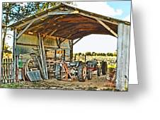 Farm Shed Digital Watercolor Greeting Card