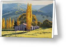 Farm Sheds Painting Greeting Card by Graham Gercken